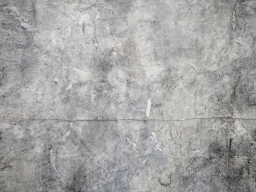 Pared de cemento agrietado