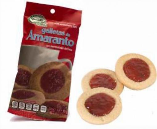 Galletas de amaranto Quali con mermelada de fresa 50 g