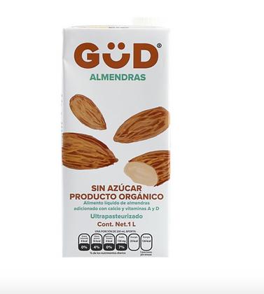Güd Alimento Liquido (leche) de Almendras Sin Azúcar Orgánico