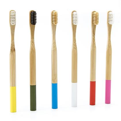 Cepillo de dientes de bambú para adulto