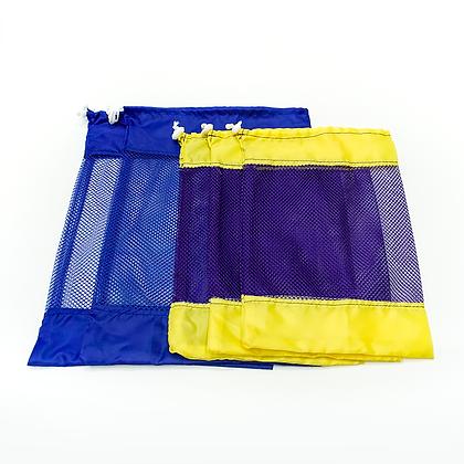 Set de 5 bolsas de red reutilizables - varios tamaños