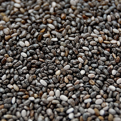 Chía negra pinta orgánica a granel, desde 1g