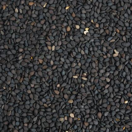 Ajonjolí negro con cutícula a granel, dese 1g