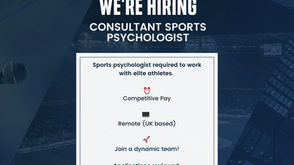 We're Hiring! Consultant Sports Psychologist