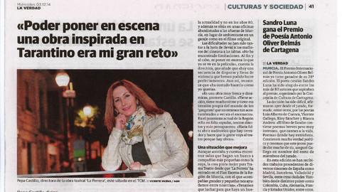 9 La Verdad Murcia Entrevista Pepa Casti