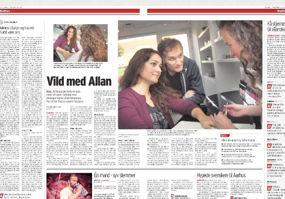 Aarhus Stiftidende gæster Kosmetolog Maria Bansov til interview af Allan Simonson og Sofie Kruuse un