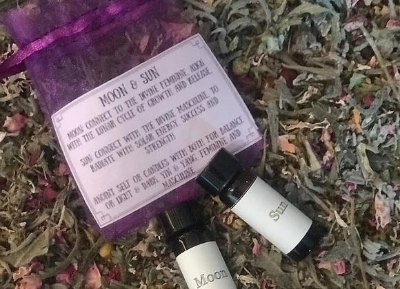 Sun & Moon Magickal Oil set