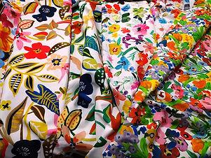 tejido estampado flores