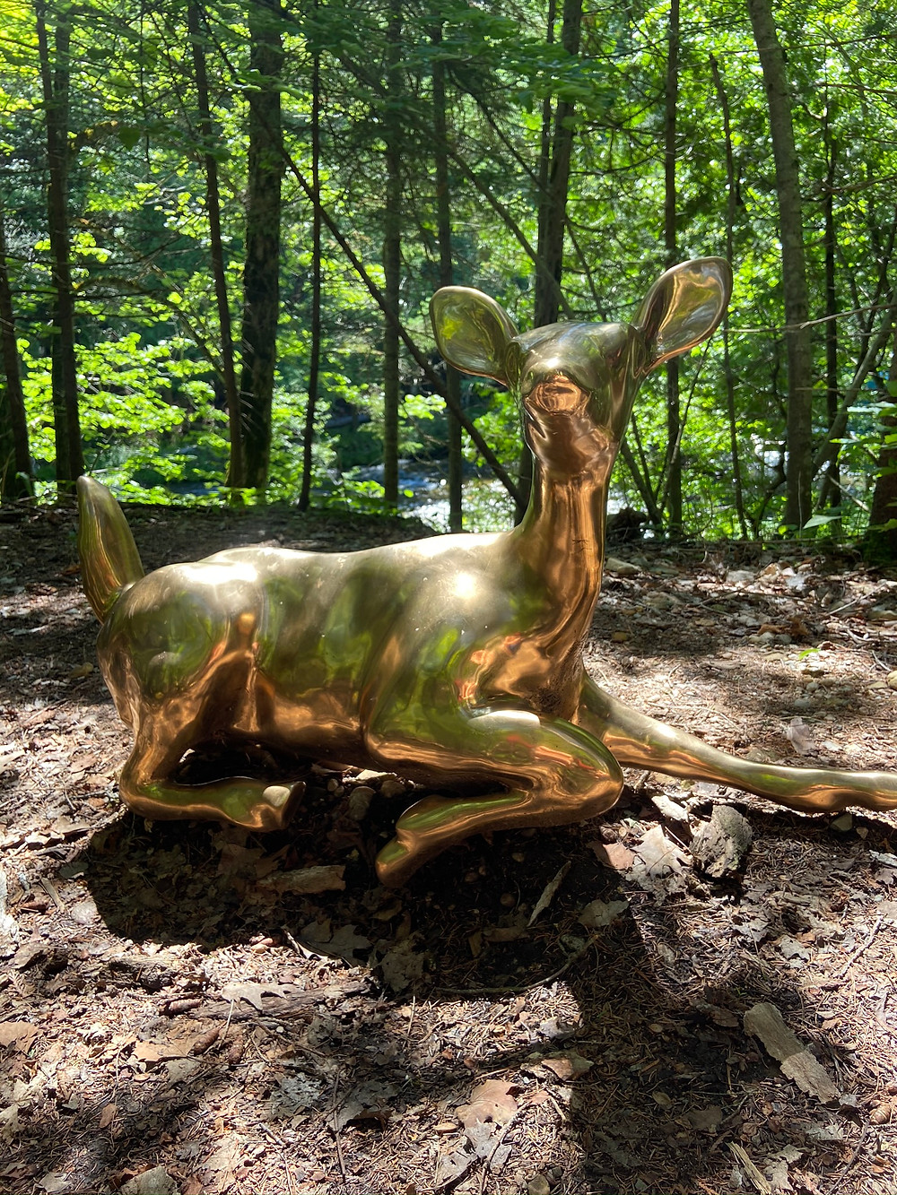 an art sculpture of a deer on Manitoulin Island Ontario Canada