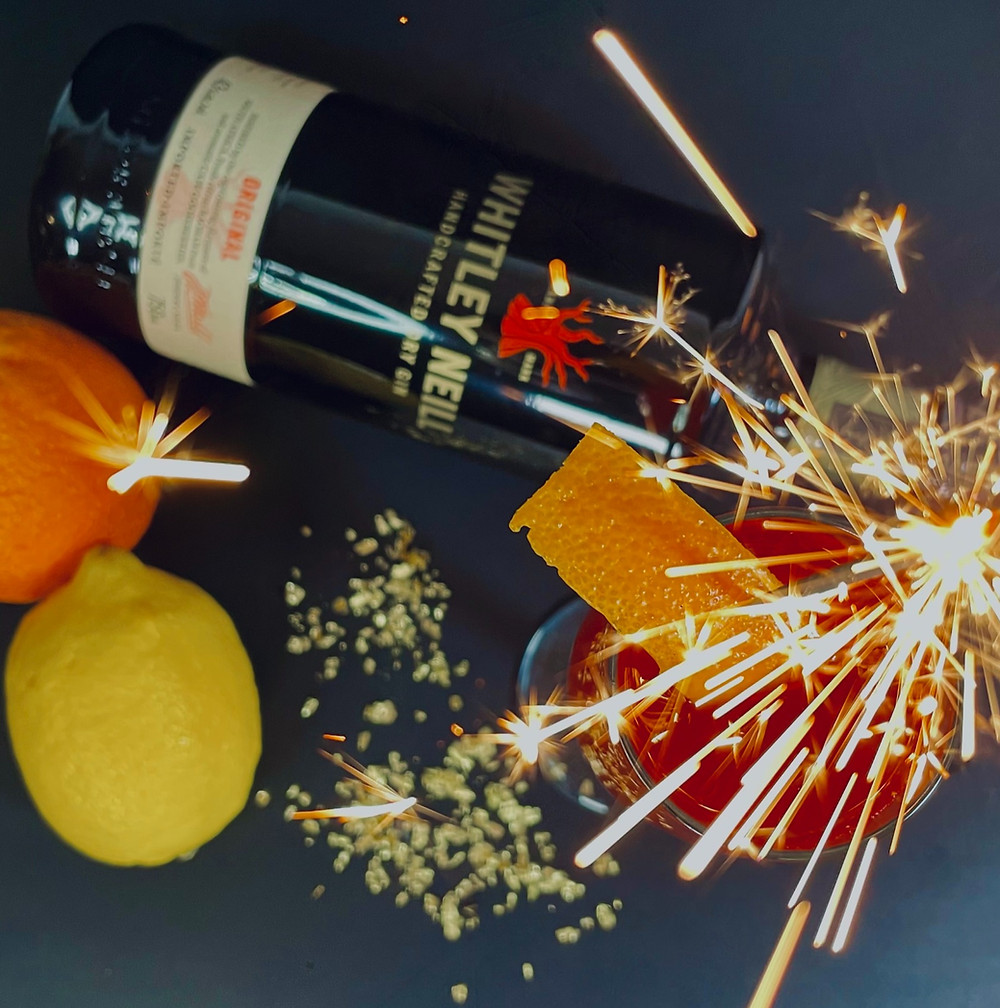 firework cocktails with gin