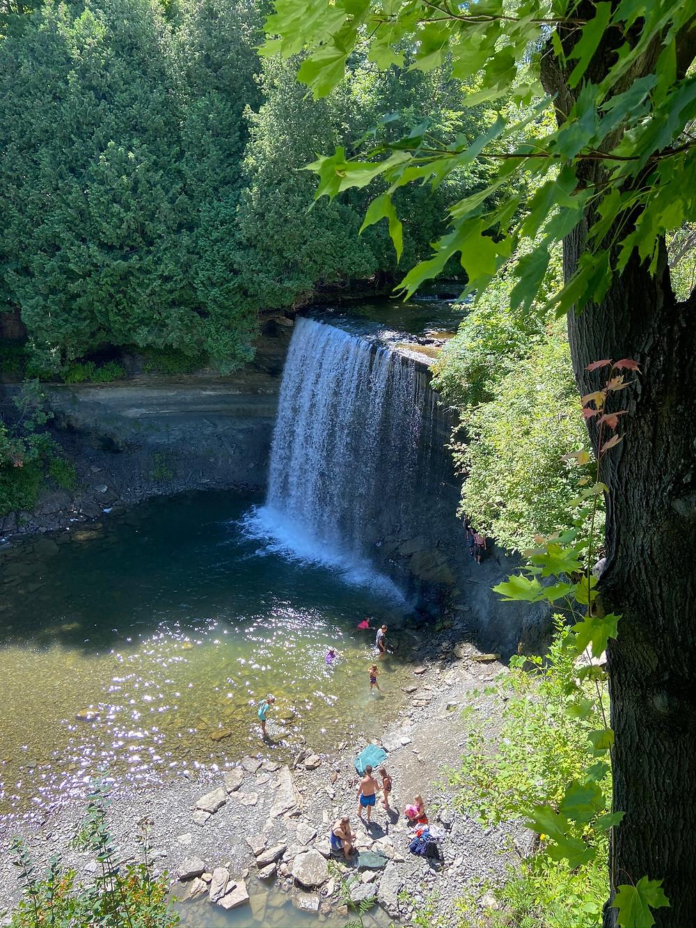 Bridal Veil Water falls Manitoulin Island