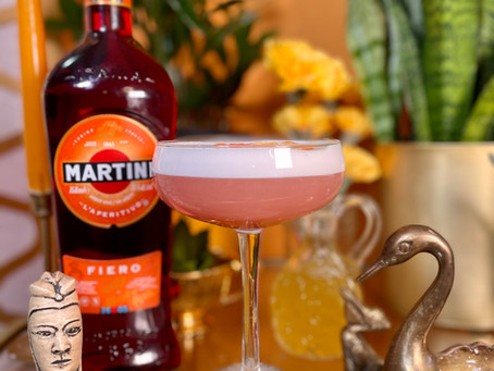 Golden Hour Sour with Martini Fiero