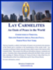 Flyer with information on becoming a Lay Carmelite