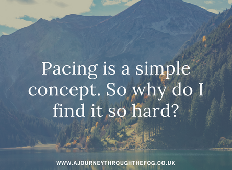 Pacing is a simple concept. So why do I find it so hard?