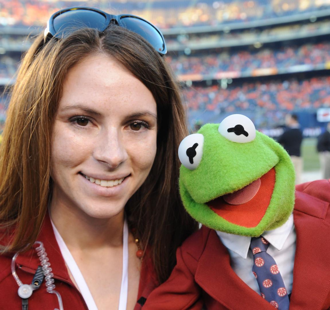 Meeting Kermit the Frog