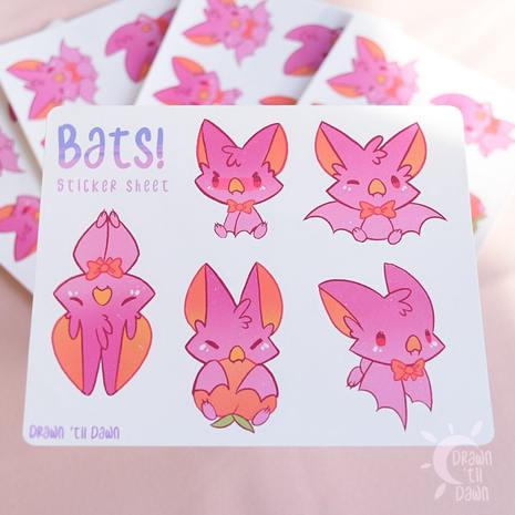 Bats! Sticker Sheet