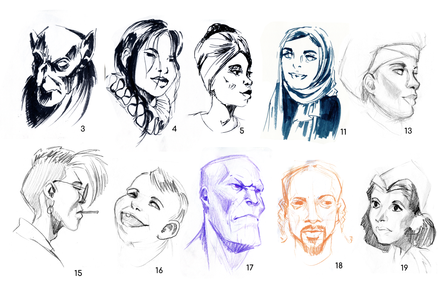 Quickfire Faces (Set 1)