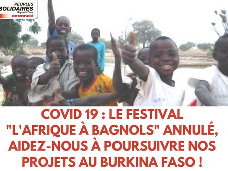 AIDEZ-NOUS À POURSUIVRE NOS PROJETS AU Burkina Faso !
