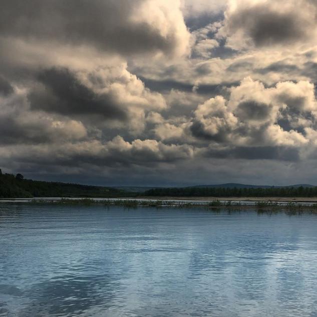 River Teno rain clouds