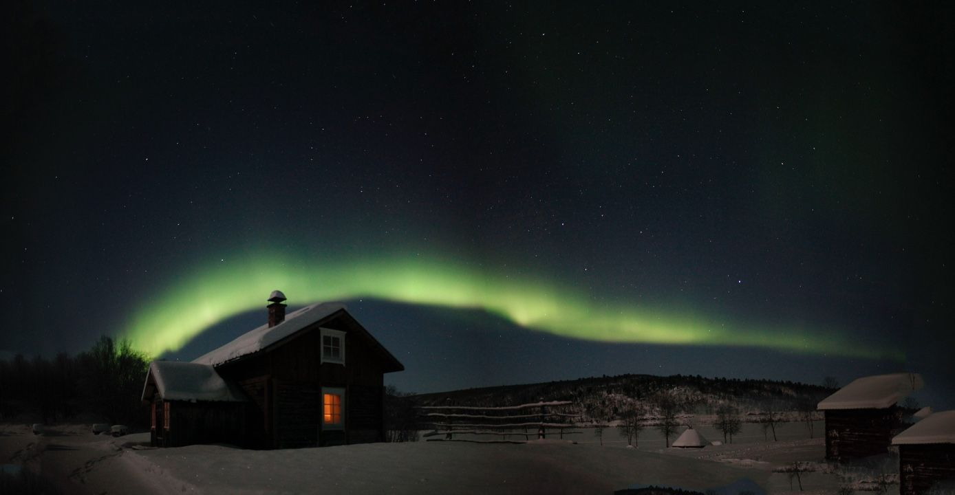 Aurora borealis in Northern-Lapland