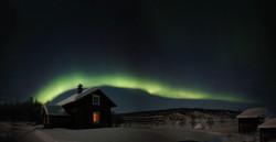 Aurora borealis in Northern-Lapland