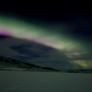 Aurora borealis in Karigasniemi
