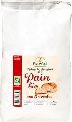 pain bio aux 5 céréales, 1 kg