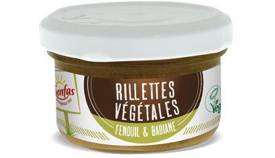 RILLETTES VÉGÉTALES fenouil et badiane 90 gr
