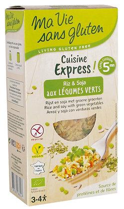 RIZ & SOJA aux légumes verts 220 gr