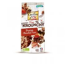 KROUNCHY FRAISE CHOCOLAT NOIR, 500 g