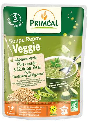 soupe repas doypack quinoa légumes verts pois cassés, 250 ml