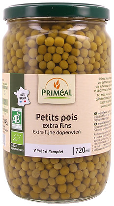 petits pois extra fins France, 720 gr