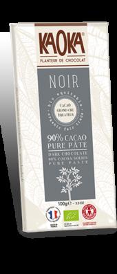 CHOCOLAT NOIR 90% GAMME DÉGUSTATION 100 gr