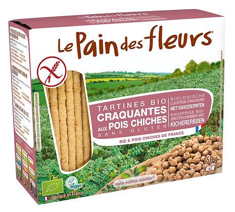 TARTINES CRAQUANTES POIS CHICHES sans gluten 150 gr