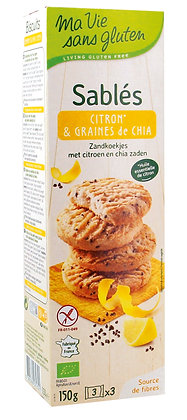 Sablés citron & graines de chia 150 gr
