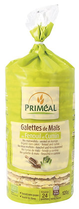 galettes de maïs au Fenouil et Cumin, 120 gr