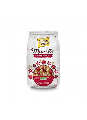 MÜESLI FRUITS ROUGES, 500 g