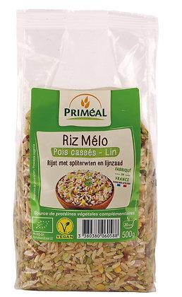 riz mélo pois cassés - lin, 500 gr