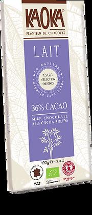 CHOCOLAT AU LAIT 36%  GAMME DÉGUSTATION 1
