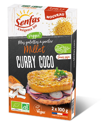 GALETTES A POELER millet, curry, coco 2 x 100 gr