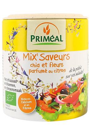 mix'Saveurs chia et fleurs parfumé au citron, 100 gr