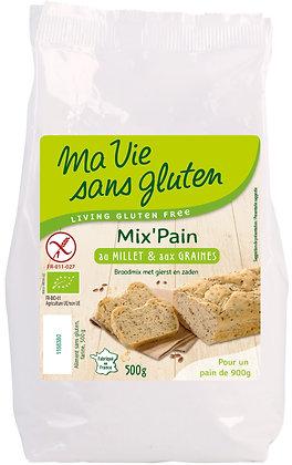 MIX'PAIN millet & graines 500 gr