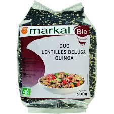 DUO LENTILLES BELUGA QUINOA, 500 g