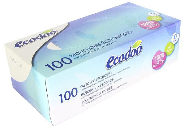 BOITE DE MOUCHOIRS papier recyclé, 100 mouchoirs