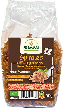 spirales blé lentilles corail, 250 gr