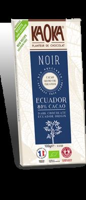 CHOCOLAT NOIR 80% GAMME DÉGUSTATION 100gr