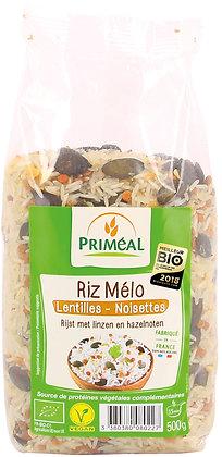 riz mélo lentilles - noisettes, 500 gr