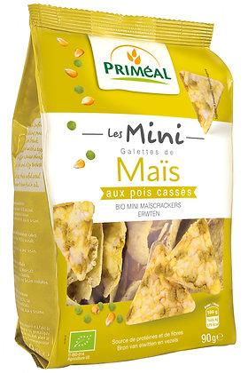 mini galettes de maïs aux pois cassés, 90 gr