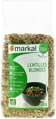 LENTILLES BLONDES, 500 g