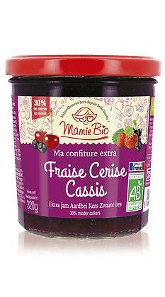 CONFITURE EXTRA FRAISE - CERISE - CASSIS 320 gr